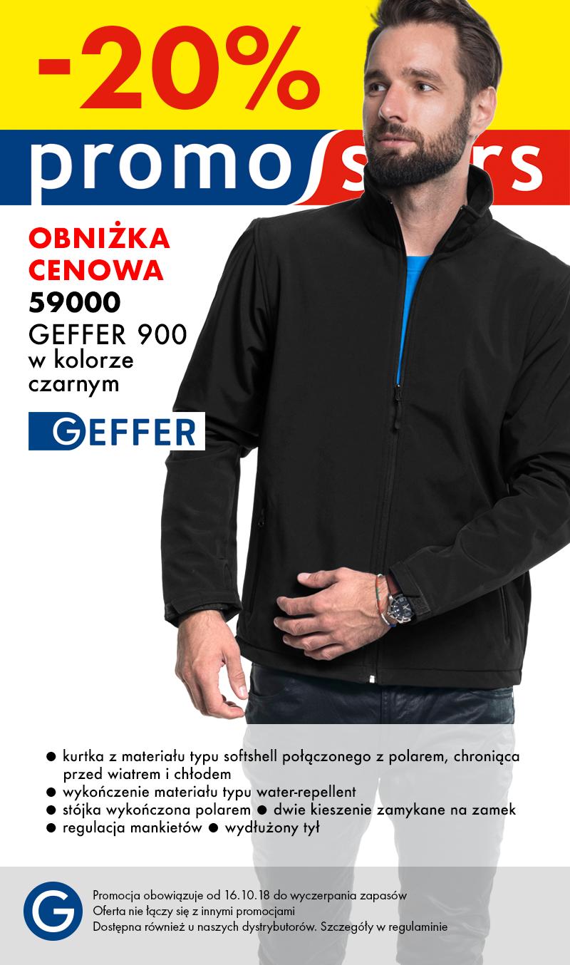Promocja Softshell Geffer czarny -20%