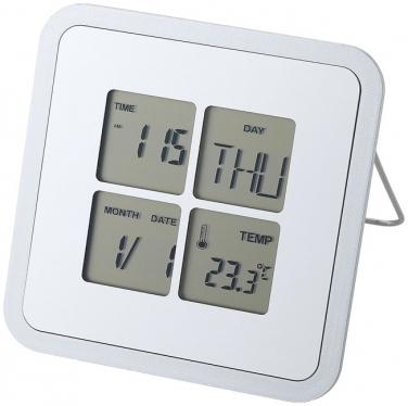 Budzik na biurko Livorno z kalendarzem i termometrem