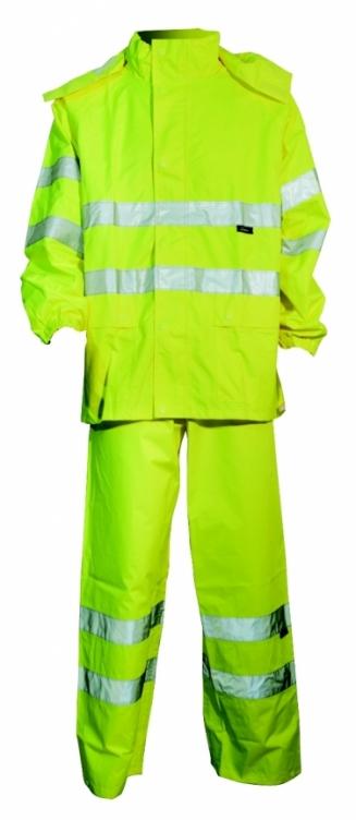 Kurtka + spodnie komplet przeciwdeszczowy ostrzegawczy