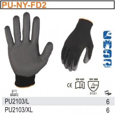 Rękawice robocze z powłoką PU