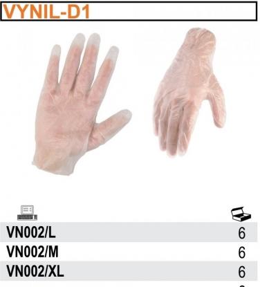 Rękawice robocze z vinylu VN002 (100 SZT)