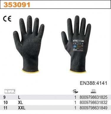 Rękawice robocze TOTAL GRIP z powłoką z pianki nitrylowej
