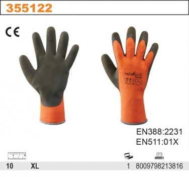 Rękawice robocze grube, pokryte lateksem
