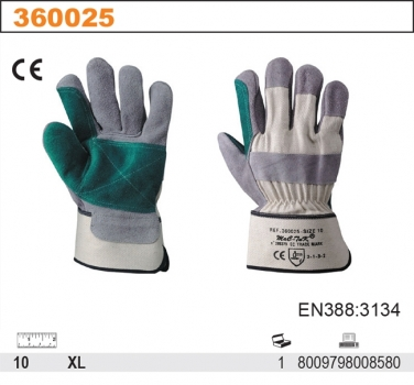 Rękawice robocze z dwoiny bydlęcej 32TOP