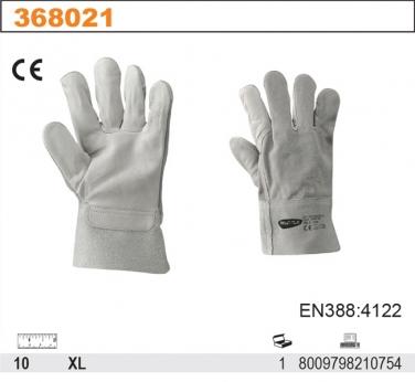 Rękawice robocze  z dwoiny i delikatnej skóry licowej 204TOP