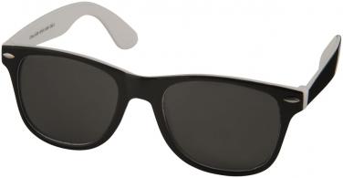 Okulary przeciwsłoneczne Sun Ray – czarne z kolorowymi wstawkami
