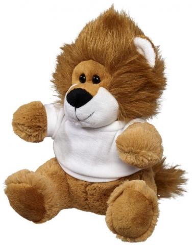 Pluszowy lew w koszulce