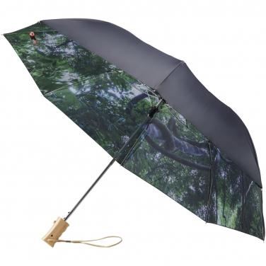 Dwustronny parasol automatyczny z motywem lasu i nieba 23'
