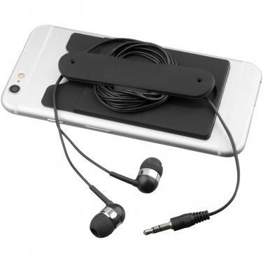 Słuchawki douszne z kablem i silikonowy portfel