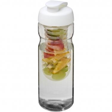 Bidon H2O Base® z wieczkiem na zacisk o pojemności 650 ml z możliwością przyrządzania wody smakowej