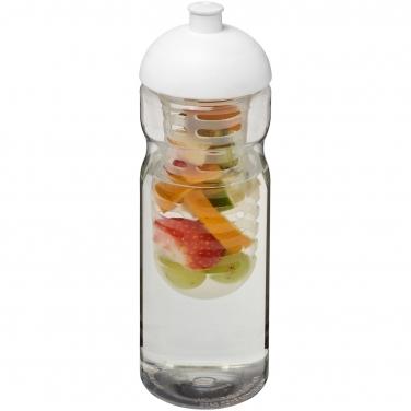 Bidon H2O Base® z wypukłym wieczkiem o pojemności 650 ml z możliwością przyrządzania wody smakowej