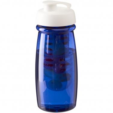 Bidon H2O Pulse® o pojemności 600 ml z wieczkiem zaciskowym z możliwością przyrządzania wody smakowej