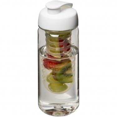 Bidon Octave Tritan™ o pojemności 600 ml z wieczkiem zaciskowym z możliwością przyrządzania wody smakowej