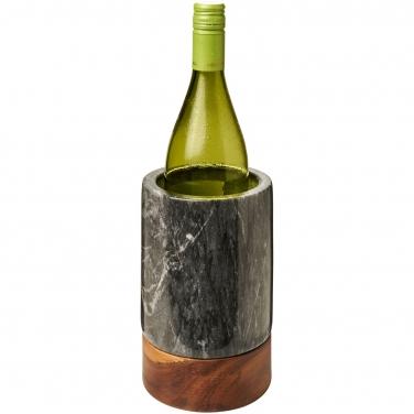 Chłodziarka do wina wykonana z marmuru i drewna Harlow