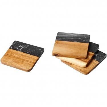 Marmurowe i drewniane podkładki Harlow