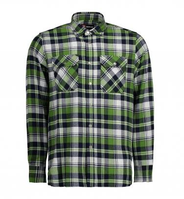 Koszula green leaf | zatrzaski