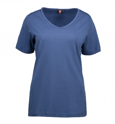 T-shirt Interlock   V-neck - Damski