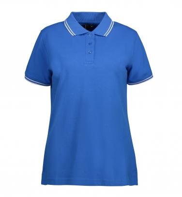 Damska koszulka polo piqué   kontrast