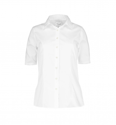 Koszula Fine Twill - Damska krótki rękaw